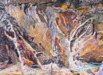 "Fire then Rain, print collage, 44"" x 60"", 2013"