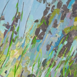 "Bay's Edge, print collage, 30"" x 42"", 2014"