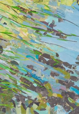 "Bay's Edge, print collage, 42"" x 30"", 2014"