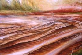 "Breaking Ground, oil on canvas, 36"" x 48"", 2001"