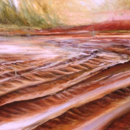 "Breaking Ground, oil on canvas, 36"" x 48"", 2001"