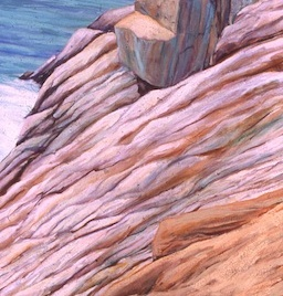 """Copper Tracings, oil on canvas, 72"""" x 36"""", 2002,"""