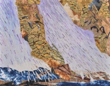 """Droughts and Floods, print collage, gouache, 16"""" x 20"""", 2013"""