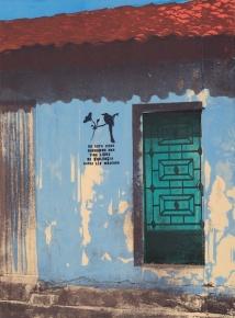 """No Violence: Las Casas de Suchito 5, silkscreen, 15"""" x 11"""", 2014"""