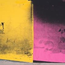 """No Violence: Las Casas de Suchito 7, silkscreen, 15"""" x 11"""", 2014"""