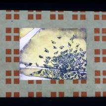 "Stop, intaglio, accordion fold, 6"" x 9"", 2007"