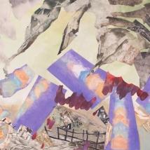 "Tornado, print collage, gouache, 22"" x 30"", 2013"