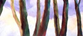 """Treeline, oil on canvas, 36"""" x 72"""", 2006"""