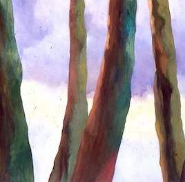 "Treeline, oil on canvas, 36"" x 72"", 2006"