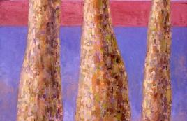 """Urban Landscape #1, oil on board, 15"""" x 22"""", 2002"""