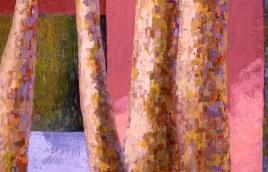 """Urban Landscape #2, oil on board, 15"""" x 22"""", 2002"""