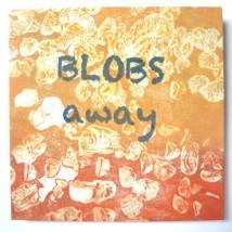 """Blobs Away, intaglio, silkscreen, accordion fold, 6"""" x 6"""", 2014"""