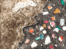 "Darby Creek: Past Presence 8, intaglio, 12"" x 16"", 2014"