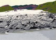 """Glacier Melt #1, 5.75"""" x 8"""", paper 8.5 x 11.5"""", 2018"""